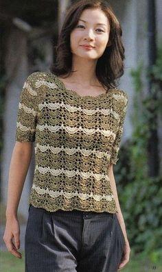 Scallop Tunic free crochet graph pattern