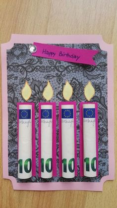 diy birthday cards for friends creative - diygifts Diy Gifts For Grandma, Diy Gifts For Friends, Friend Birthday Gifts, Birthday Diy, Birthday Money, Grandma Birthday, Birthday Ideas, Happy Birthday, Diy Christmas Gifts For Boyfriend