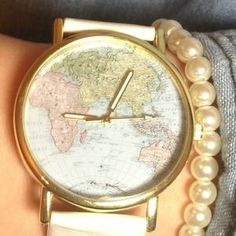I just discovered this while shopping on Poshmark: ️NWT White Around The World Watch. Check it out!  Size: OS