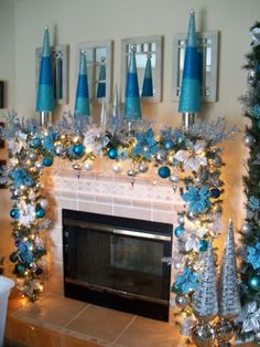 Disney Cinderella Themed Christmas Fireplace Mantel