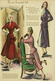 1949 fashions 1940s Vintage Dresses, Vintage Fashion, Painting, Style, Art, Swag, Art Background, Fashion Vintage, Stylus