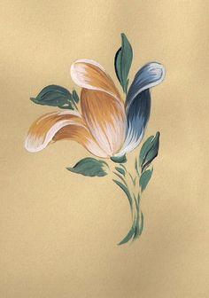 Baroque tulip Bauernmalerei - Decorative Painting free Online Workshop