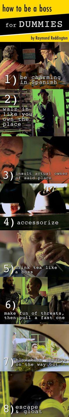 The #Blacklist - Like A Boss   http://thedailyreddington.tumblr.com/