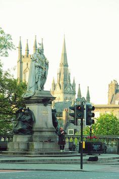 Union Street, Aberdeen, Scotland - The Bagpiper