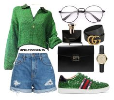"""#PolyPresents: Statement Shoes"" by itsjana ❤ liked on Polyvore featuring Gucci, Nobody Denim, Jean-Paul Gaultier, Bulgari, Vanessa Mooney, Prada, Burberry, contestentry and polyPresents"