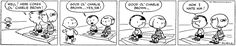 The first ever Peanuts strip... Back when it was less mawkish and Snoopy walked on all fours.