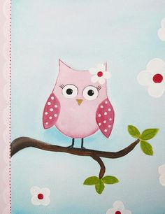 Pink Owl Baby Decoration    emugallery @ etsy.com