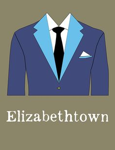 Elizabethtown (2005) ~ Minimal Movie Poster by Rebecca Turner #amusementphile