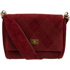 Pre-Owned Vintage Chanel Burgundy Suede Shoulder Bag ($1,440) ❤ liked on Polyvore featuring bags, handbags, shoulder bags, burgundy, burgundy purse, red handbags, mini purse and mini backpack purse