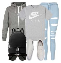 """""""Sin título #12103"""" by vany-alvarado ❤ liked on Polyvore featuring Topshop, NIKE, MICHAEL Michael Kors and Ray-Ban"""