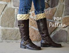 Celtic Dream Boot Cuffs Crochet Pattern   Ladies by CharmedByEwe, $4.99
