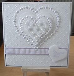 hand crafted valentine love card white on white lots of texture embossing folder Wedding Sentiments For Cards, Wedding Day Cards, Wedding Shower Cards, Wedding Cards Handmade, Card Sentiments, Wedding Anniversary Cards, Personalized Wedding, Wedding Gifts, Valentine Love Cards