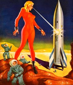 Lloyd Rognan - The Cosmic Destroyer, 1957 / The Science Fiction Gallery