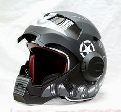 Masei Black Zaku US Army Stormtrooper 610 Motorcycle Harley Chopper DOT Helmet