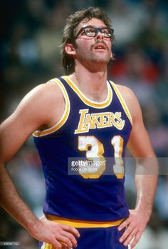Kurt Rambis of the Los Angeles Lakers looks on against the Washington Bullets during an NBA basketball game circa 1981 at the Capital Centre in Landover, Maryland. Rambis played for the Lakers from and Mvp Basketball, Fantasy Basketball, Basketball Shoes For Men, Basketball Leagues, Basketball Legends, College Basketball, Basketball Birthday, Football, Baseball