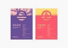 Oasis Festival — Style Guidelines on Behance