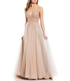 73687142b93 GB Social Floral Beaded Ballgown Junior Prom Dresses