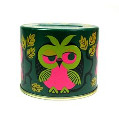 Vintage owl money box Pinned by www.myowlbarn.com