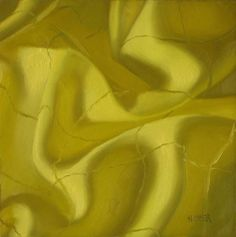 """Lemon folds  6x6  oil on board"" - Original Fine Art for Sale - © Claudia Hammer"