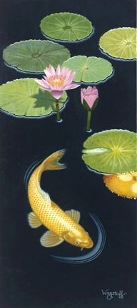 Yellow Gold Koi   by N. Robert Wagstaff