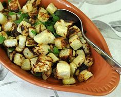 Roasted Kohlrabi ♥ AVeggieVenture.com, simple and delicious.