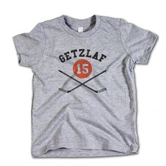 Ryan Getzlaf NHLPA Officially Licensed Anaheim Toddler and Youth T-Shirts 2-12 Years Ryan Getzlaf Sticks K