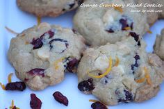 Served Up With Love: Orange Cranberry Kissed Cookies