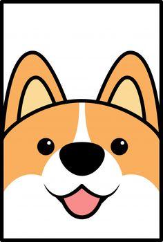 Cute corgi dog face cartoon | Premium Vector Corgi Cartoon, Cute Dog Cartoon, Cute Dog Wallpaper, Cartoon Wallpaper, Cute Corgi, Corgi Dog, Corgi Drawing, Face Illustration, Logo Creation