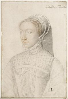 1550. Jeanne de Montmorency, daughter of Anne de Montmorency, wife of Louis III de La Trémoille. Francois Clouet