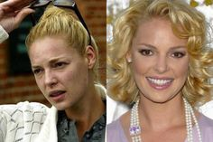 Celebrities With & Without Makeup - Katherine Heigl