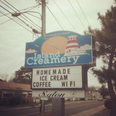Chincoteague Island, VA....Island Creamery Been there, done that, and yes, have the t-shirt.  Looking forward to the next trip to Island Creamery!