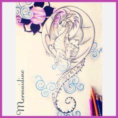 Ellen (@mermaidinctattoo) on Instagram: Dragon for Ben #artwork #artist #dragon #tattoodesign #tattoo #tattoodesign #cornwall