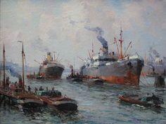 Gerard Delfgaauw 1882-1947, Havengezicht Rotterdam