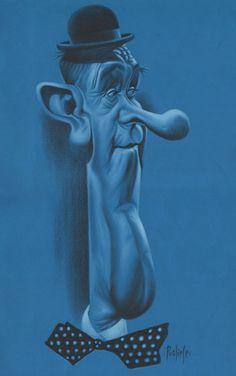 Stan Laurel - lápiz color Cartoon Gifs, Cartoon Faces, Animated Cartoons, Cartoon Styles, Funny Faces, Caricature Gifts, Caricature Artist, Caricature Drawing, Stan Laurel