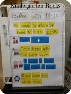 Reading with friends anchor chart