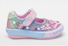 f7c53e22ac8 Lelli Kelly Tillie Baby Rainbow Glitter Canvas Shoes Baby Glitter, Glitter  Canvas, Childrens Shoes