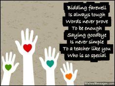 Beautiful farewell poem to say goodbye to teacher
