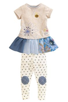 Buy Oatmeal Bee Tunic And Leggings Set (3mths-6yrs) from the Next UK online shop