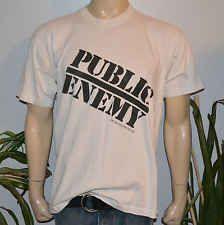 RaRe *1990-1991 PUBLIC ENEMY* vtg rap concert tour t-shirt (XL) 80s 90s Hip-Hop