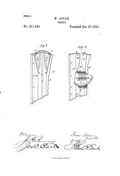 1881 nursing corset  US patent 251,493