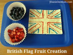 We celebrated the London Olympics by creating a fruit flag creation.