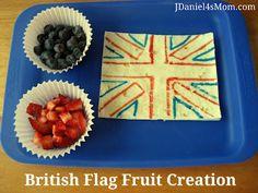 Kids will love creating an edible British flag.