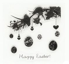NEW 'Happy Easter' Clear Stamp Set: Card-making / Scrapbooking Crafts  | eBay