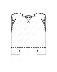 burda style, Näh-Anleitung, Sweat-Top - Spitzendetails 05/2013 #131, Das gerade geschnittene Sweat-Top ist mit einem Spitzenshirt gefüttert, das an Saum und Ärmeln herausblitzt. Den Hals ziert ein aufgestepptes Spitzendreieck Shirts, Crop Tops, Fashion, Triangles, Hemline, Sewing Patterns, Tutorials, Moda, Fashion Styles