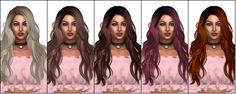 """kenzar-sims: """"KenzarNewsea Titanium(Hair Retexture)• 24 swatches(naturals and unnaturals) • Mesh by Newsea Converted by…"""