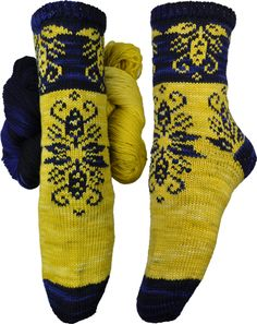 Blodeuwedd Socks Knitting Pattern