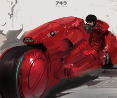 Kaneda and his motorcycle | AKIRA, laserpunk