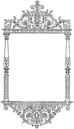 **FREE ViNTaGE DiGiTaL STaMPS**: Free Digital Stamp - Pretty Ornate Frame...  Would make border for a great DIY printed vintage label on a glass jar