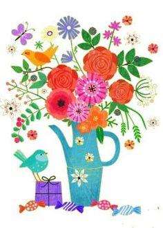 Vase et bouquet fantaisie (70 pieces)