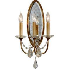 Valentina Oxidized Bronze Three-Light Sconce